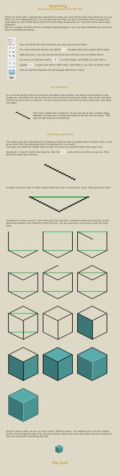 How to start with pixel art by `vanmall on deviantART