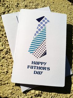 Fathers Day Card - handmade tie washi tape via Etsy
