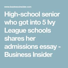 College application essay help online ivy league