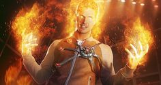 'The Flash' Firestorm Superhero Fight Club Poster -- Robbie Amell's Ronnie Raymond shows off his fiery powers in the latest Superhero Fight Club poster for CW's 'The Flash'. -- http://movieweb.com/flash-tv-series-poster-firestorm/