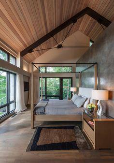 Private Lake Home - Contemporary - Bedroom - by Jodi Gillespie Interior Design