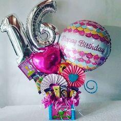 Balloon Box, Balloon Gift, Balloon Bouquet, Friend Birthday Gifts, Birthday Diy, Happy Birthday, Bubble Balloons, Candy Bouquet, Candy Gifts