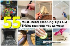 55 Must See Cleaning Tips And Tricks 1