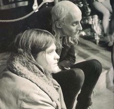 Richard O'brien and Meatloaf behind the scenes