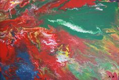 "Buntes #Leinwandbild  auf Keilrahmen 40x30cm: ""Feuerland"" #Acrylbild #painting #art"