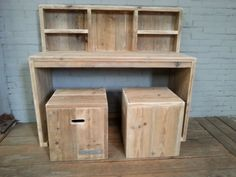 steigerhouten bureau Decor, Shelves, Home Decor, Desk
