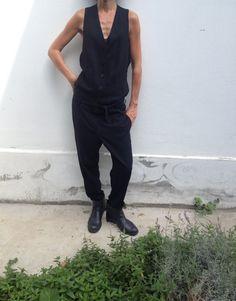 Avant garde Ann Demeulemeester Black Jumpsuit by BooksandClothes