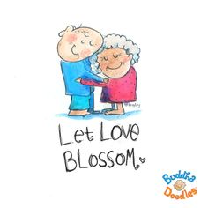Today's Buddha Doodle: Let this BLOSSOM :)