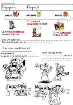 Conjugaison | Le BLOG de Monsieur Mathieu French Teacher, Teaching French, French Education, Grammar Lessons, French Lessons, Languages, Vocabulary, Worksheets, Im Not Perfect
