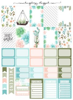 Counting Sheepy: Free Planner Printables - Secret Garden