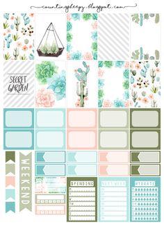 Counting Sheepy: Free Planner Printables - Secret Garden