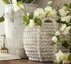 ceramic rope vases  love it, it would look great with all of my nautical stuff!