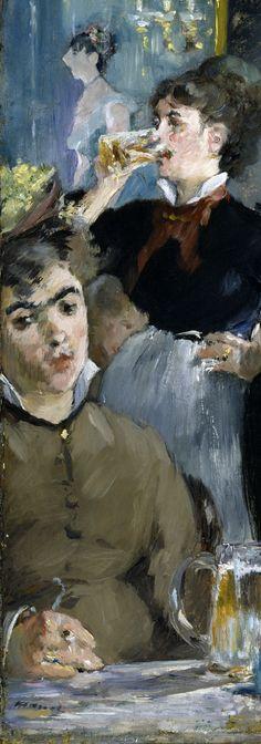 At the Cafe (1879) Aunque sus trazos parecieran descuidados Manet era un perfeccionista