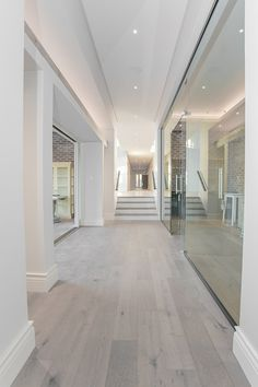 Down lights & shadow-line ceilings give a clean, crisp look in the hallway Cornice, Roofing, Residential, Timber, New Homes, Ceiling, House, Lights, Downlights