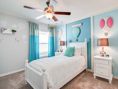 Hopes, dreams, and high flying imaginations delight in this balloon-themed bedroom. Highland Homes' Serendipity model home in Lakeland, Florida. Creative Kids Rooms, Highland Homes, Bedroom Pictures, Bedroom Themes, Bedrooms, New House Plans, Florida Home, Model Homes, House Rooms
