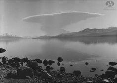 Erupción Volcán Puyehue, 22.5.1960 (Col Lagos en Archivo Visual Patagónico)