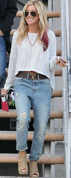 MINKPINK Let It Be Cropped Jumper in 2 Colors - as seen on Ashley Tisdale
