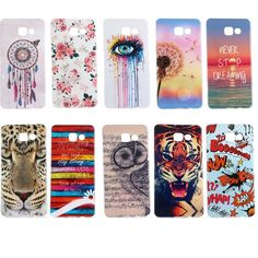 New lovely owl tiger Painting silicone Soft TPU Case For Samsung Galaxy A3 A5 A7 A8 A310 A510 A710 2016 phone shell cover couqe