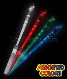 LED Fiber Optic Wand - Assorted - Coolglow.com Diy Carnival Games, Fiber Optic, Lightsaber, Homemaking, Lava Lamp, Wands, Crafty, Led, Wedding