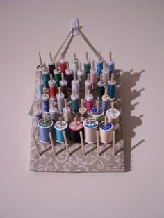How to Make a Simple and Stylish Thread Rack by sincerelydisregard