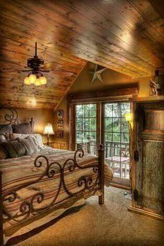 Best home bedroom cozy cabin ideas Style At Home, Future House, Log Cabin Homes, Log Cabins, Log Cabin Bedrooms, Cabins And Cottages, Home Bedroom, Bedroom Ideas, Master Bedroom