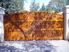 custom wooden driveway gate 88