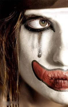 Other sad hipster clown is also sad.
