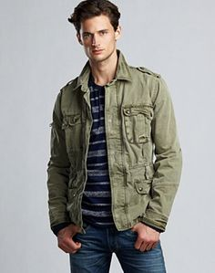 d7ed953486f5c Twill Aviator Jacket - Jackets & Hoodies - Lucky Brand Jeans Military  Inspired Fashion, Camo