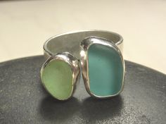 Seaglass Jewelry ring- Love the colors of this one!
