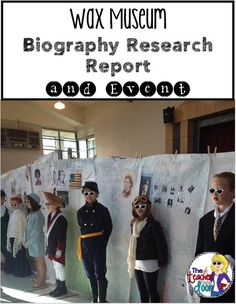 Lots of ideas here to help you organize a Wax Museum. Awesome way to integrate social studies and reading and writing and the kids (and parents) really enjoy it too!