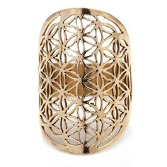 Handmade Flower Of Life Brass Ring by Charlotte's Web Handmade Rings, Handmade Flowers, Flower Of Life Symbol, Charlottes Web, Unusual Rings, Flower Patterns, Hand Carved, Jewellery Sale, Brass