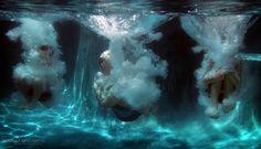 Cannon Balls Underwater
