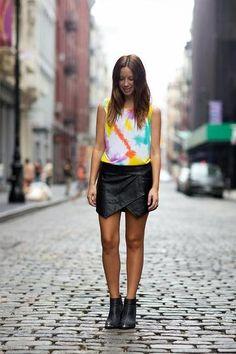 30 ways to wear a black leather skirt // Friend in Fashion