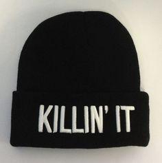 xxlittlepinkbowtiexx's save of Killin It Beanie - Headwear - Beauty Forever - Brands - Paper Alligator on Wanelo