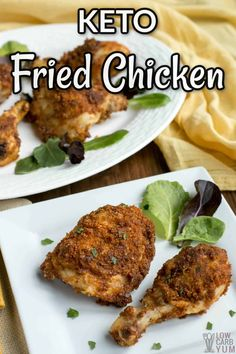 Keto Fried Chicken (Air Fryer or Oven) | Low Carb Yum Ketogenic Diet Meal Plan, Keto Meal Plan, Diet Meal Plans, Low Carb Keto, Low Carb Recipes, Cooking Recipes, Healthy Recipes, 7 Keto, Atkins Recipes