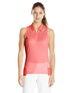 adidas Golf Women's Climachill Tour Sleeveless Polo Shirt *** Learn more by visiting the image link.