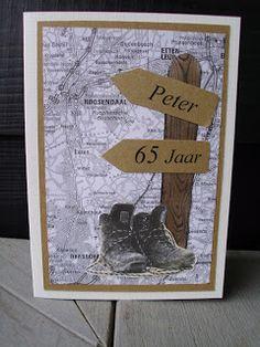 Diny's Scrapkaarten: Peter 65 jaar