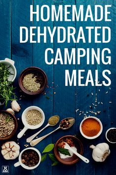 Make your own dehydrated camping meals.