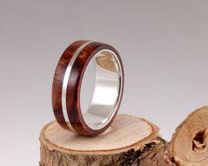 1st Edition Amboina Maser Silberring mit Holz von Crown Design auf DaWanda.com