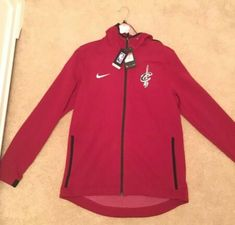 Nike Poland Authentic AW77 Mens Hooded Jacket Sweatshirt Red White RRP £70