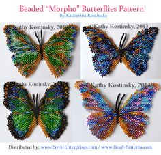 "Beaded ""Morpho"" Butterfly Patterns!"