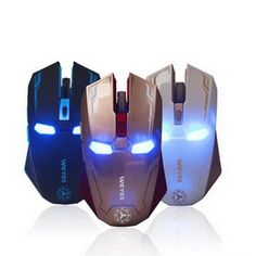 New Iron Man Mouse Wireless Mouse Gaming Mouse gamer Mute Button Silent Click 800/1200/1600 / 2400DPI Adjustable computer mice