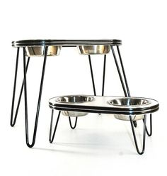 Elevated Dog Feeder  Bowl Holder Retro 12 inch by CoburnsExclusive, $90.00