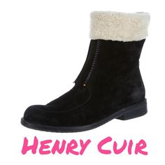 "Henry Cuir Black Suede Boots - Sz 7 - Retail $730 Henry Cuir black suede ankle boots with contrast top stitching and faux shearling cuff and interior. Excellent used condition. Very light scuffing throughout suede. Heels 1"". No box. Size 7. Retail $730. ✳️Always Authentic✳️Also listed on other sites so will sell quickly✳️  ❌Trades❌PayPal❌ Henry Cuir Shoes Ankle Boots & Booties"