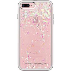 Amazon.com: Rebecca Minkoff iPhone 7 Plus Case, Glitterfall Designer... ($35) ❤ liked on Polyvore featuring accessories, tech accessories and rebecca minkoff