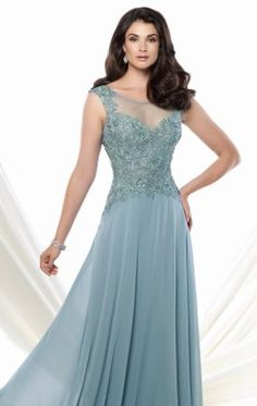 Beaded Chiffon Gown by Mon Cheri Montage 115970