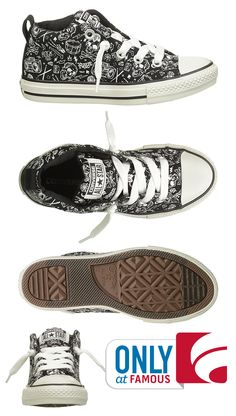 Slip-on Converse sneakers with a rock-and-roll vibe? Your little guy will thank you!