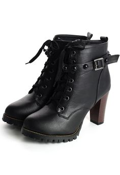Love these!! Studded Heel Ankle Boots in Black.  Need tough awesome ankle boots for fall. And just life.