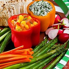 Your guests will love these delish dips that use bell peppers for bowls.