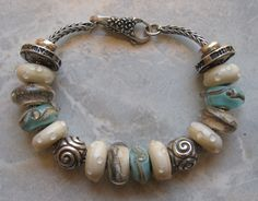 This is such a pretty Trollbead bracelet! I love how the colors look together!